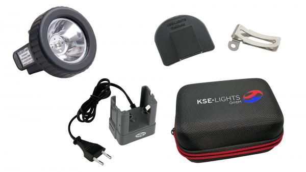 SALE21-MX-SET2 - Dreistufige MX-Helmleuchte inkl. Zubehör und Hartschalen-Etui