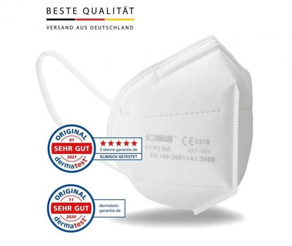 FFP2-Schutzmasken, CE-zertifiziert, 50 Stück, einzeln verpackt (nur solange Vorrat reicht)